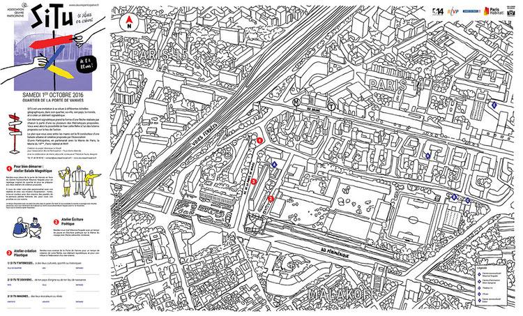 Le plan du quartier de la Porte de Vanves à personnaliser