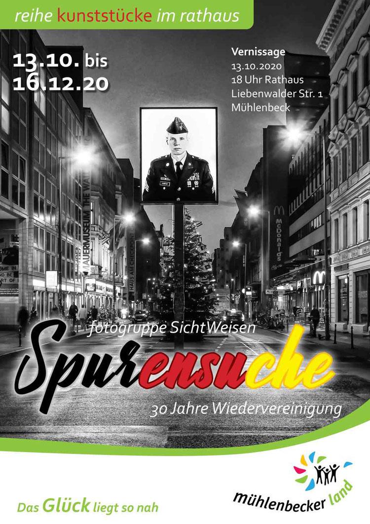 """Ausstellung der Fotogruppe Sichtweisen im Rathaus """"Spurensuche - 30 Jahre Wiedervereinigung"""