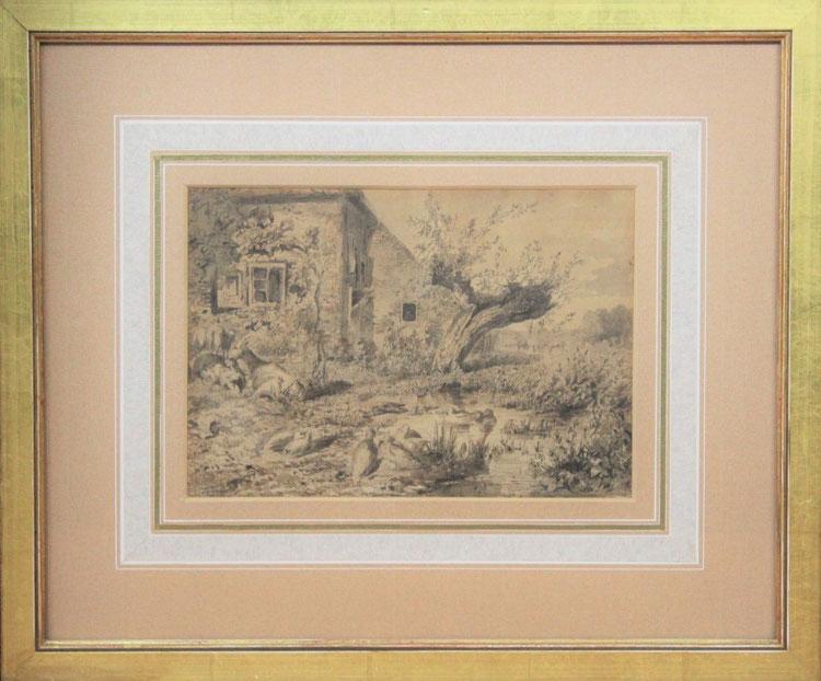 te_koop_aangeboden_een_kunstwerk_van_de_nederlandse_kunstenaar_johannes_warnardus_bilders_1811-1890