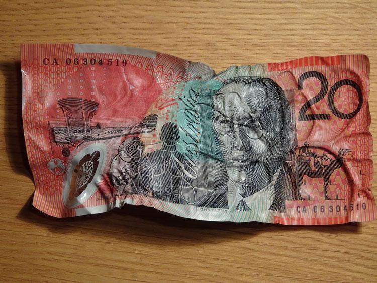 Geld, Australienurlaub planen