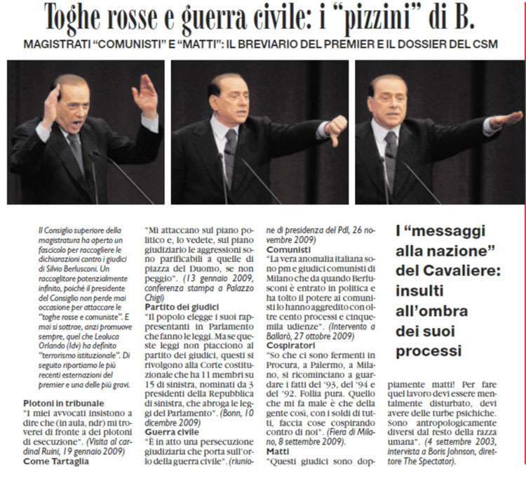 il Fatto Quotidiano 23/01/10