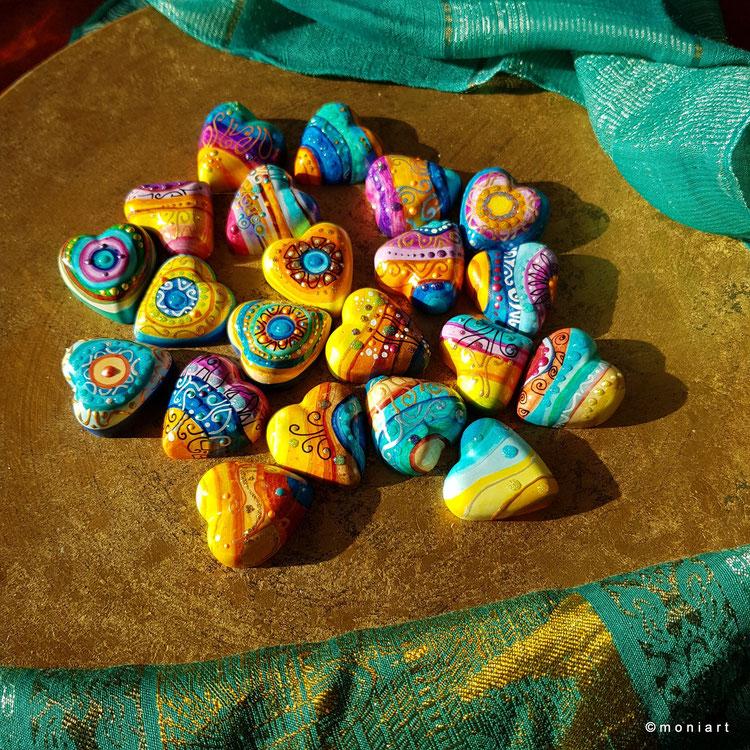 Herzen klein farben bunt kunst