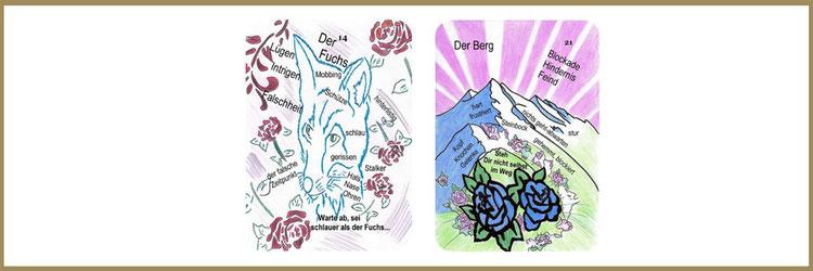 Fuchs und Bergkarte Lenormand