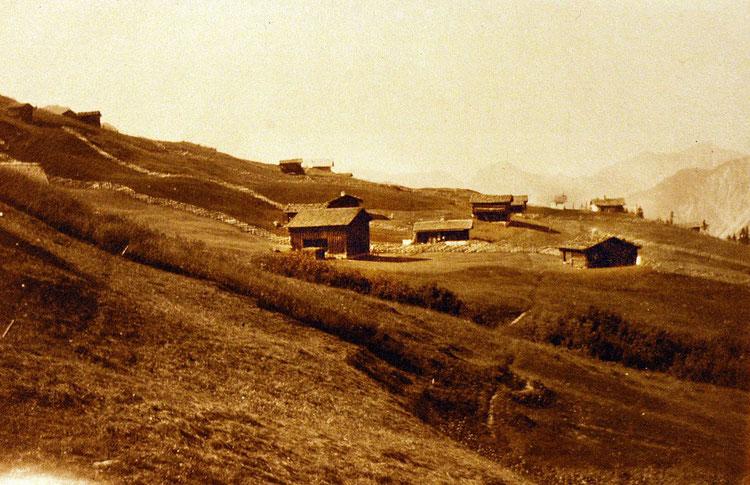 Maisäß Makwitsch im Montafon um 1905, Foto: Wikipedia