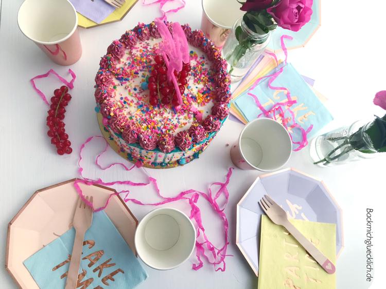 Flamingo Torte und Partyteller von Trallafitti & Gedöns
