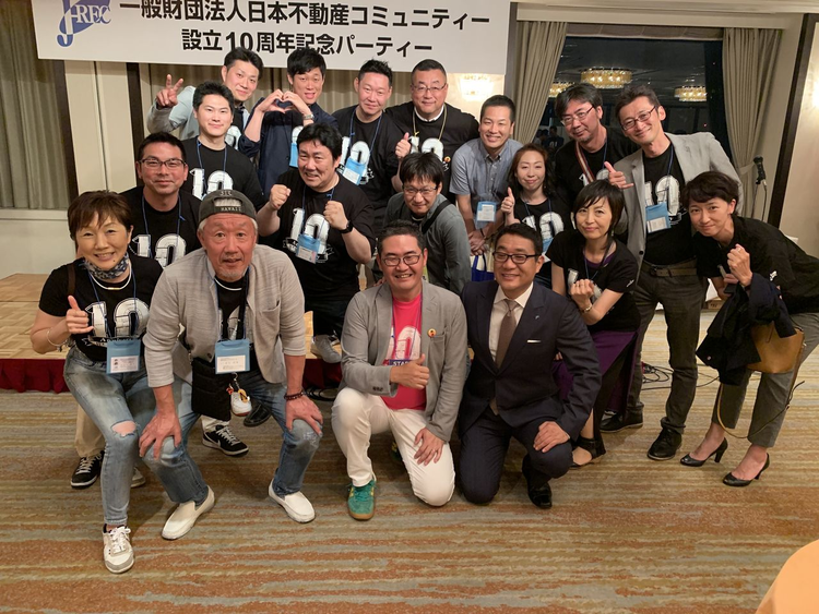 J-REC10周年記念 北海道支部参加者の集合写真