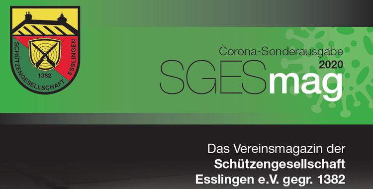 Titelblatt des Vereinsmagazins der Schützengesellschaft Esslingen e.V. gegr. 1382