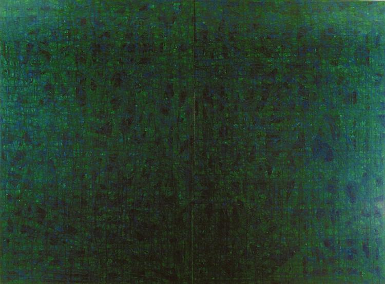 水場P.10   oil on canvas 194×260.6cm(F120号×2)
