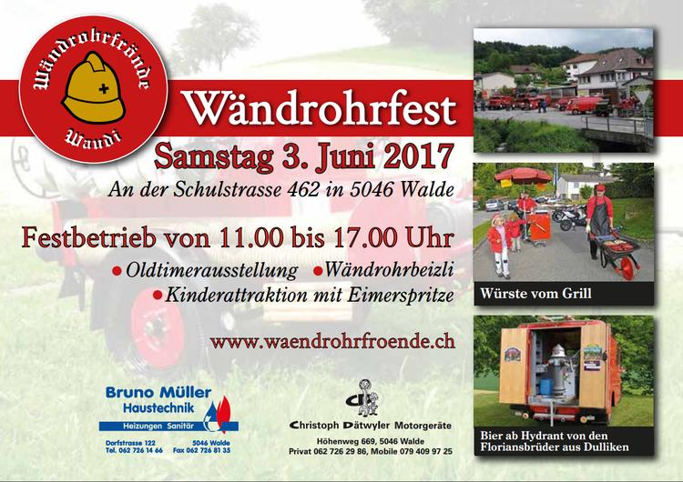 Flyer Wändrohrfest 2017