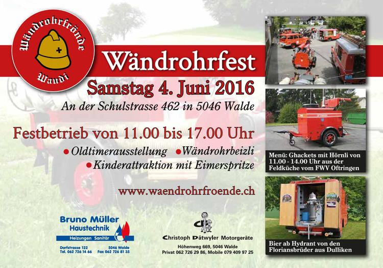 Flyer Wändrohrfest 2016