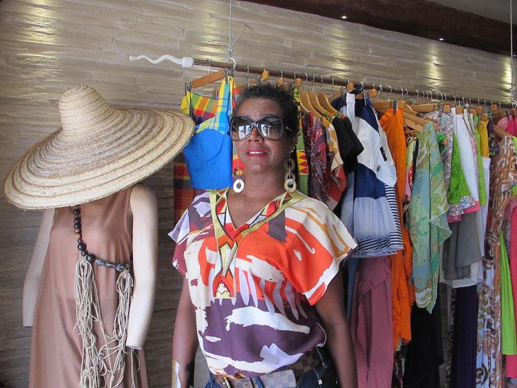 Claudia Portecop, gérante de la boutique Les Créateurs.
