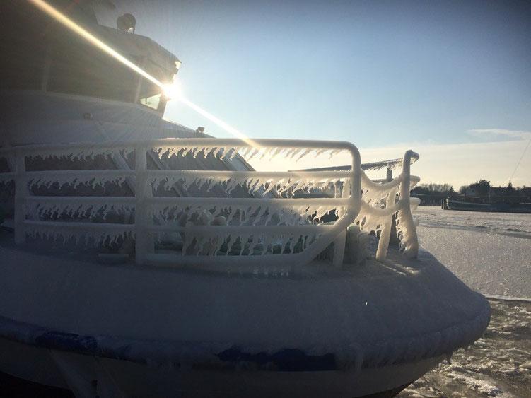 MS Gellen im Eispanzer