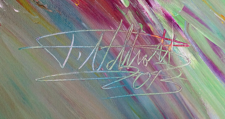 Signature of the artist Peter Nottrott and year of creation: 2013