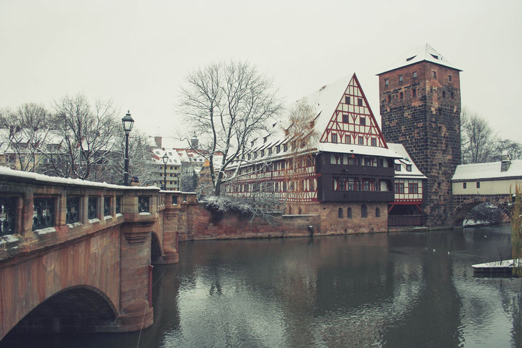 Nuremberg Germany ofpenguinsandelephants of penguins & elephants river Pegnitz love island