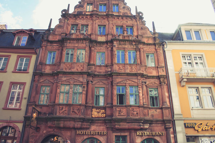 Heidelberg Germany ofpenguinsandelephants of penguins & elephants Hotel Ritter knight market square
