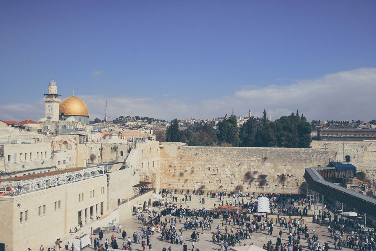 Jerusalem Israel ofpenguinsandelephants of penguins & elephants Temple mount Western Wall Dome of the rock