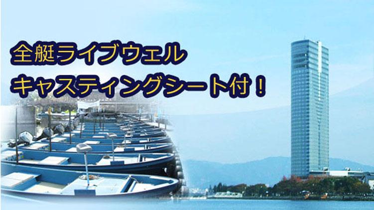 舟橋貸舟釣具店のレンタルボート写真