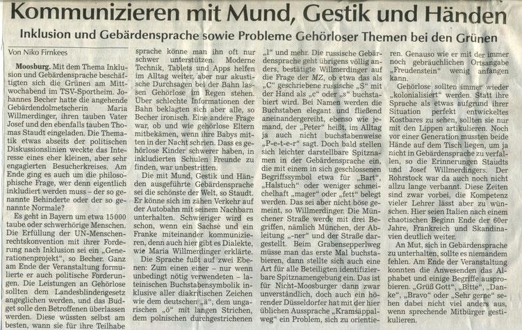 Quelle: Moosburger Zeitung 11.06.2018