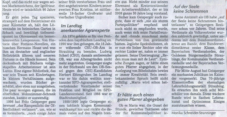 Quelle: Straubinger Tagblatt 26.06.2021