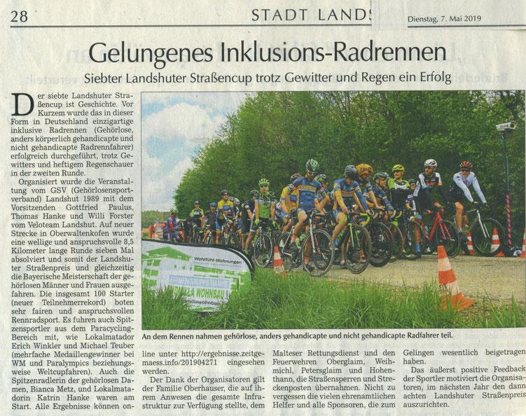 Quelle: Landshuter Zeitung 07.05.2019