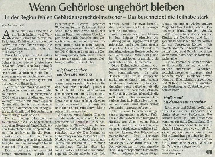 Quelle: Landshuter Zeitung/Straubinger Tagblatt 17.01.2020