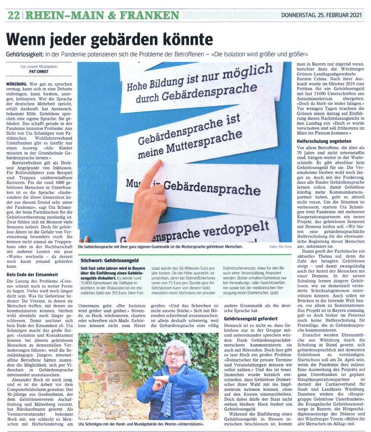 Quelle: Main-Franken Post (??) 25.02.2021