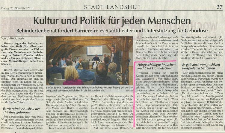 Quelle: Landshuter Zeitung 23.11.2018