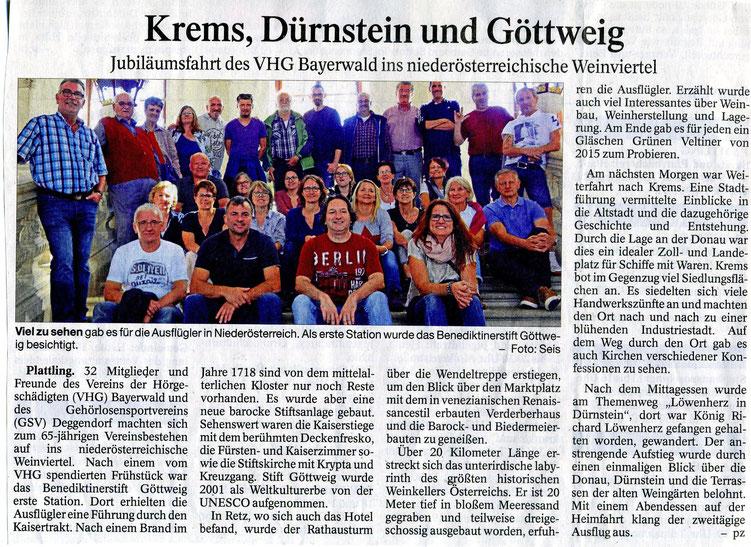 Quelle: Plattlinger Zeitung 17.11.2016