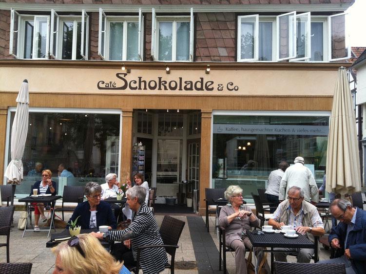 """Cafe """"Schokolade"""" von außen"""