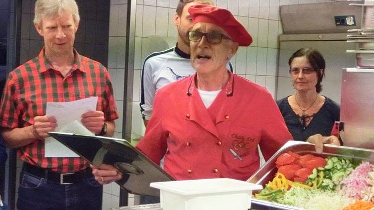 Comrades Marathon Sieger und Olympiamannschaftskoch Charly Doll klärte uns über gesunde und frische, natürliche Küche auf.