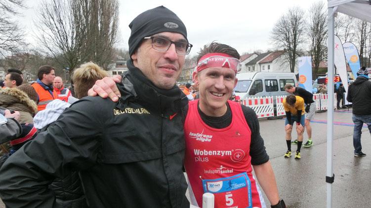 Coach Markus M. mit Schützling Steffen - danke für die tolle Saison 2015 und ich freue mich auf 2016 ;-).
