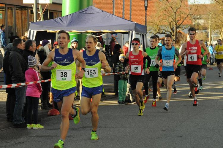 Steffen (39) läuft in Erkheim auf den vierten Gesamtrang über 6,25 Km in 20:24 Minuten (Foto: Karl Michl / Allgäu-Ausdauer.de / All-in.de)