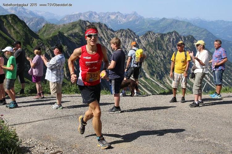 Steffen ist auch stark am Berg für einen Straßenläufer - auf dem 29. Gesamtrang kam er beim härtesten Berglauf Deutschlands am Nebelhorn ins Ziel
