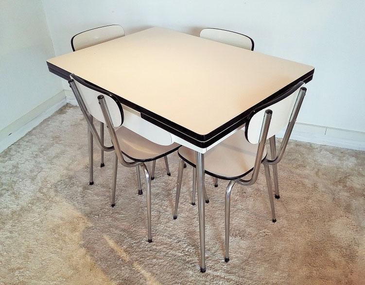Ensemble de cuisine table et chaises formica vintage
