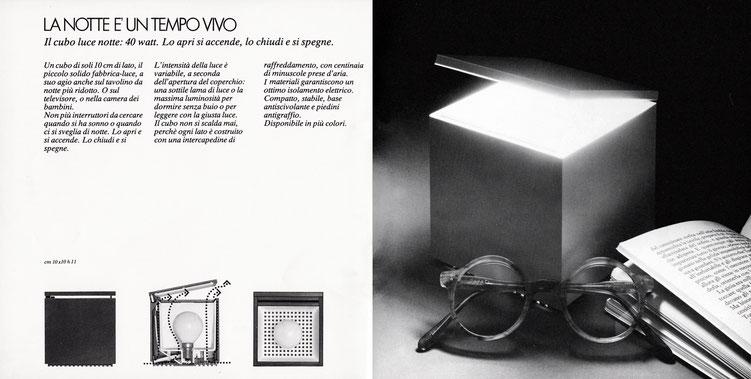 Lampe cuboluce seventies