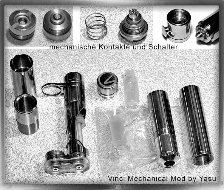 mechanische Akkuträger in diversen Einzelteilen und Schaltern