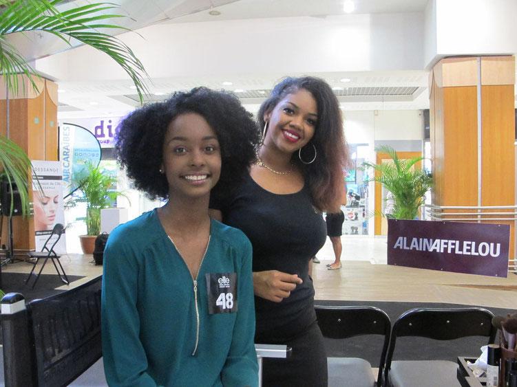 Tessy, 16 ans, participait pour la première fois à un casting et ne s'était jamais maquillée avant samedi. Emilie, la maquilleuse l'a rassurée sur le résultat final.
