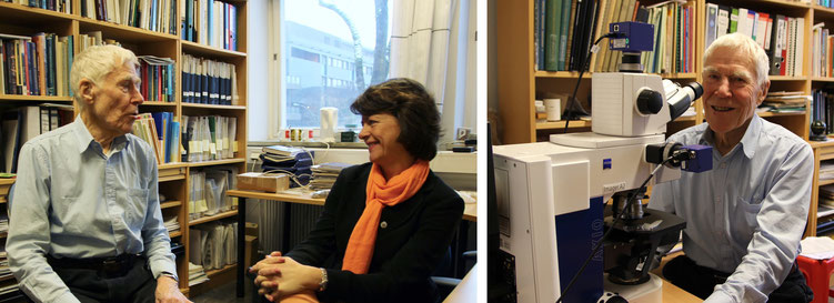 Svein with Gunn in his office, December 2014