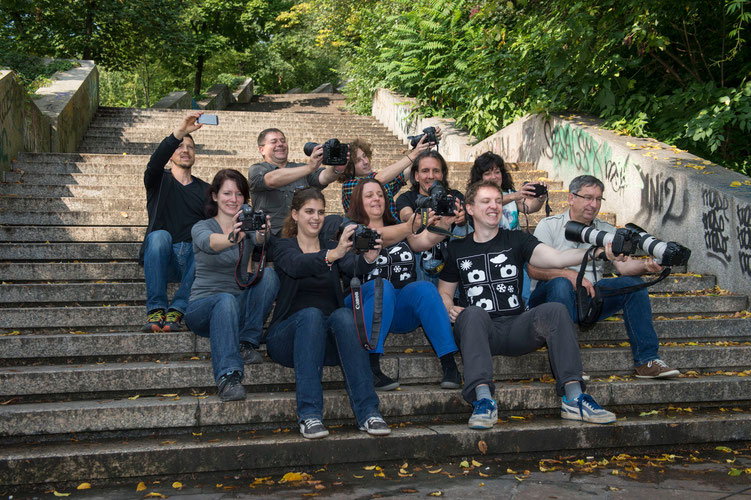 """Auch der Knipserklub ist im """"Selfie-Fieber""""..."""