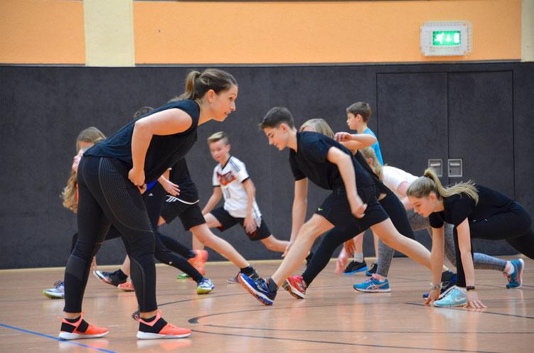 Kathrin Klaas im Training bei der LG-Alheimer