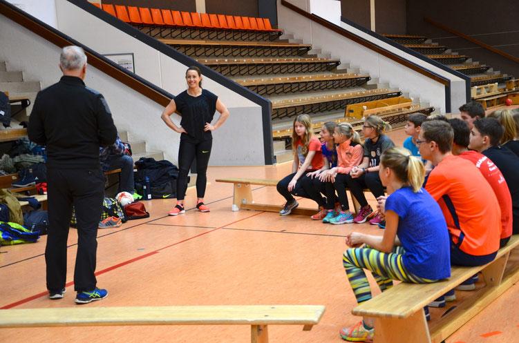 Kathrin Klaas Vorstellung bei der Talentfördergruppe LG-Alheimer