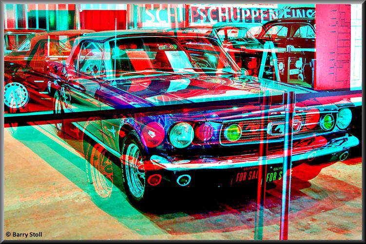 3D - Bremen - Oldtimer im Schuppen Eins 5 - Ford Mustang GT Convertible von 1966
