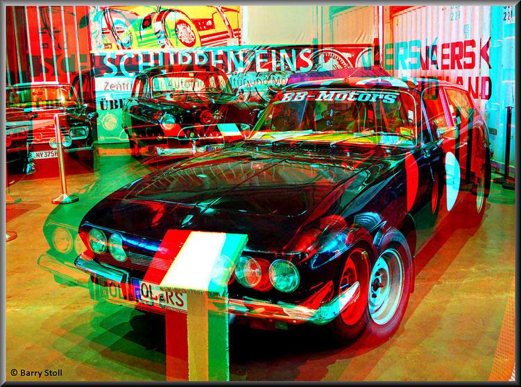 3D - Bremen - Oldtimer im Schuppen Eins 2 - Reliant Scimitar GTE SE5 - von 1969