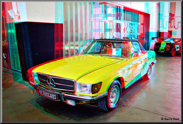 3D - Bremen - Oldtimer im Schuppen Eins 12 - Mercedes-Benz 450 SL von 1973