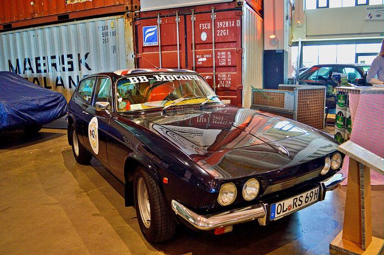Bremen - Oldtimer im Schuppen Eins 1 - Reliant Scimitar GTE SE5 - von 1969