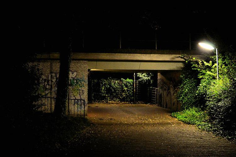 Nachts auf der Straße