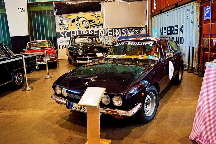 Bremen - Oldtimer im Schuppen Eins 3 - Reliant Scimitar GTE SE5 - von 1969