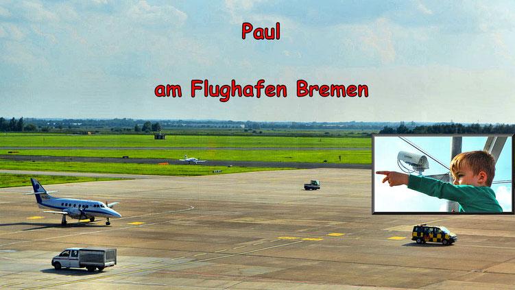 Paul am Flughafen Bremen 1