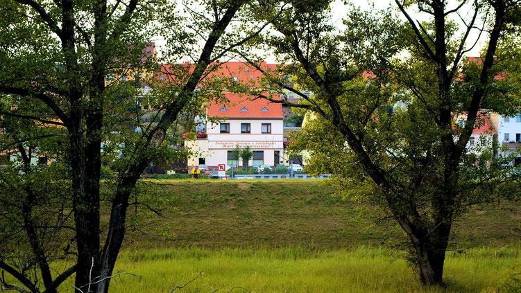 Blick vom Oderdamm nach Fürstenberg