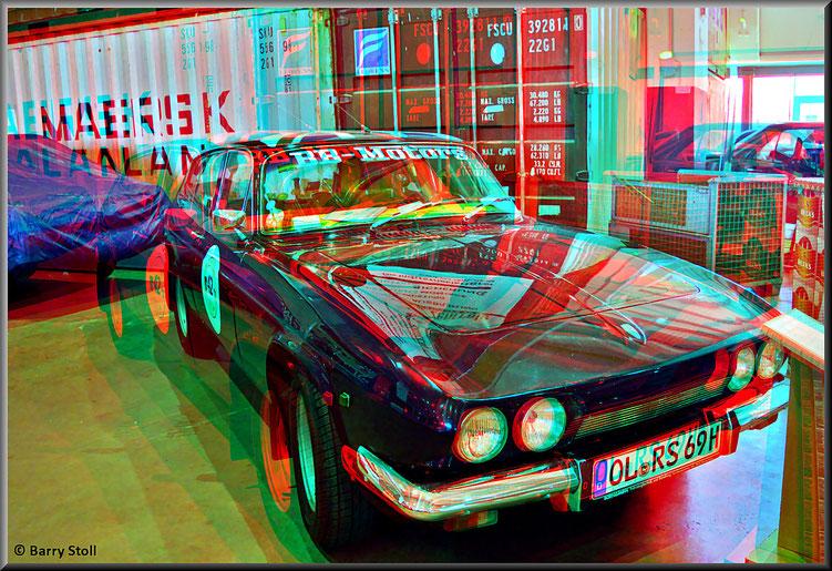 3D - Bremen - Oldtimer im Schuppen Eins 1 - Reliant Scimitar GTE SE5 - von 1969